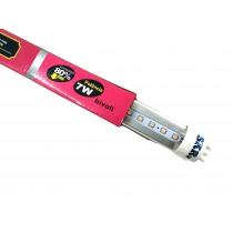 Lampada de led skrw tubol.t8 7w 45cm rosa