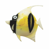 Peixe flutuante f-1 com 1 unidade (branco/preto)