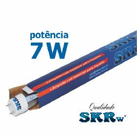 Lampada de led skrw tubol.t8 7w 45cm azul